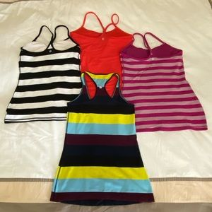 Lululemon tanks, set of 2 or 4, each size 6